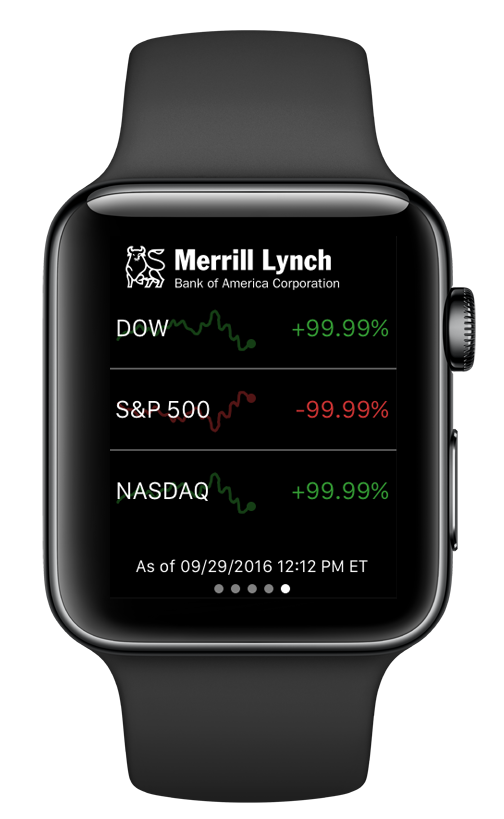 Track markets with your Apple Watch®